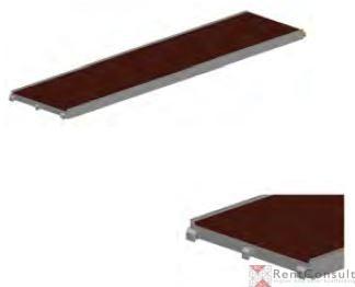 Пътека от алуминиева рамка и шперплат
